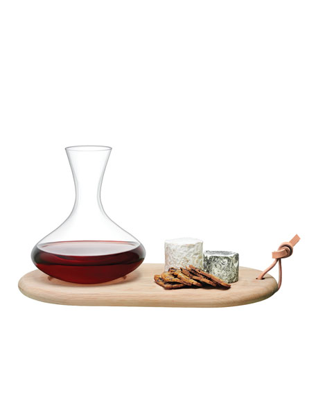 LSA Carafe and Oak Cheese Board Set
