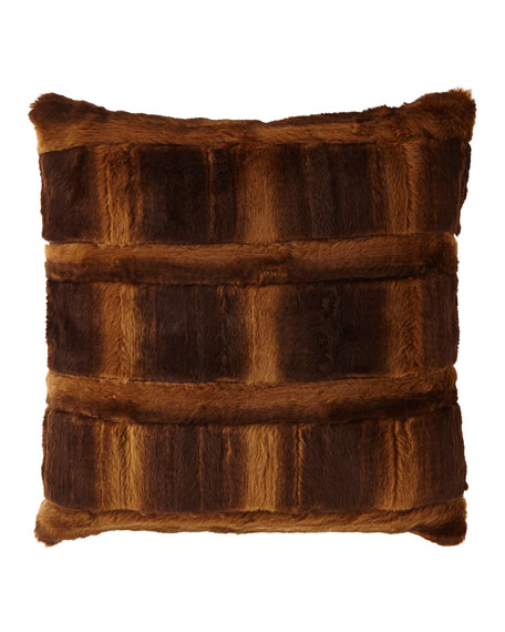 Sweet Dreams Spencer Pieced Faux-Fur Square Pillow