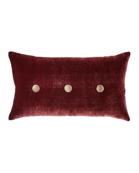 Sweet Dreams Spencer Velvet Oblong Pillow with Buttons