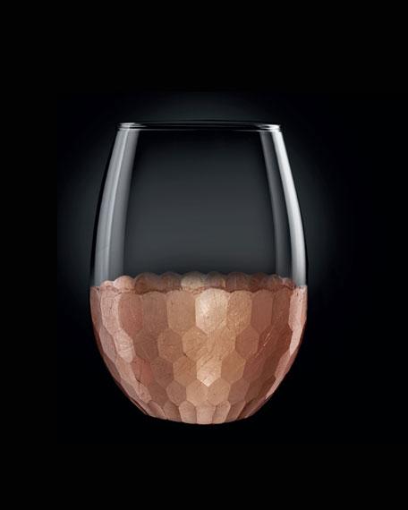 Daphne Copper Stemless Wine Glasses, Set of 4