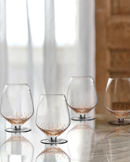 Gold Luster Pinot Noir Wine Glasses, Set of 4