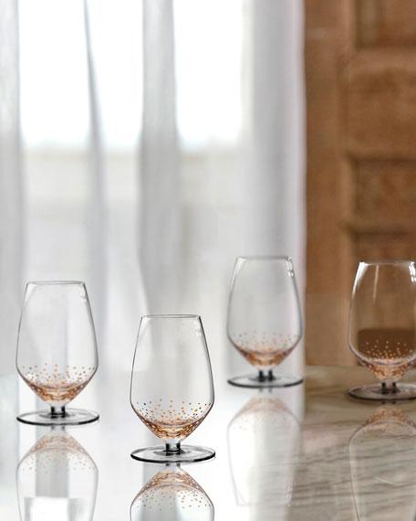 Gold Luster Sauvignon Wine Glasses, Set of 4
