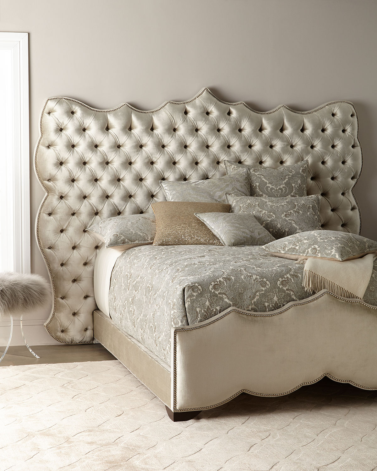 Haute House Samara Tufted King Bed