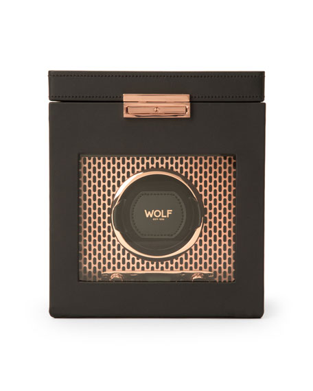 WOLF Axis Single Watch Winder with Storage