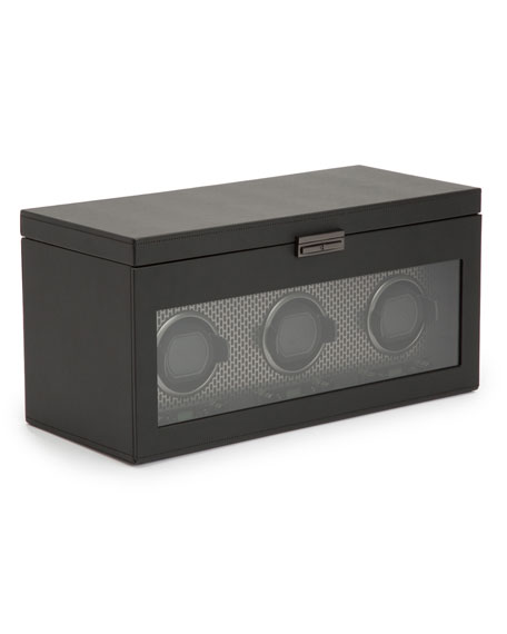 WOLF Axis Triple Watch Winder with Storage