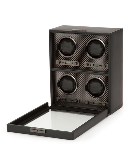 Image 2 of 3: WOLF Axis 4-Piece Watch Winder