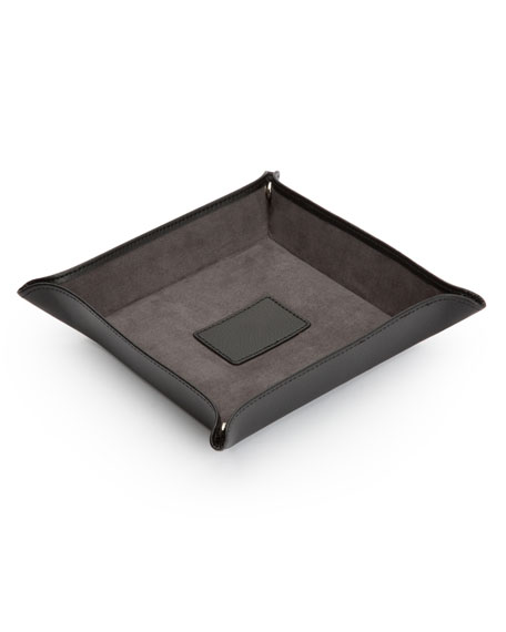 WOLF Blake Leather Coin Tray