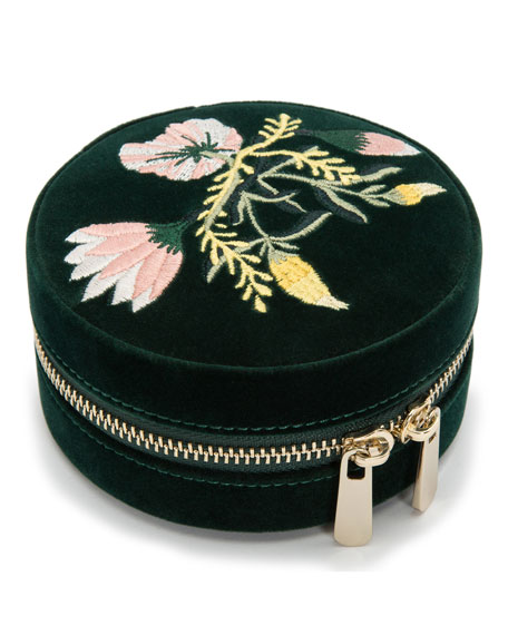 WOLF Zoe Round Travel Jewelry Case