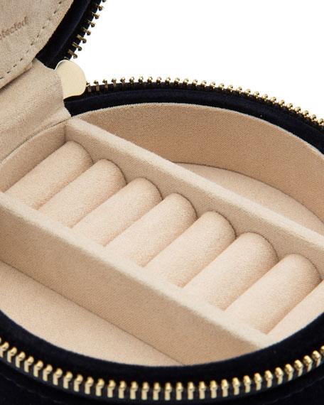 WOLF Zoe Round Travel Jewelry Case