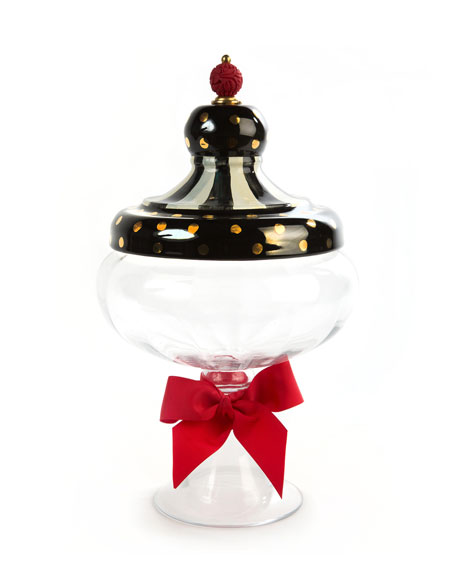 MacKenzie-Childs Black Tie Apothecary Jar