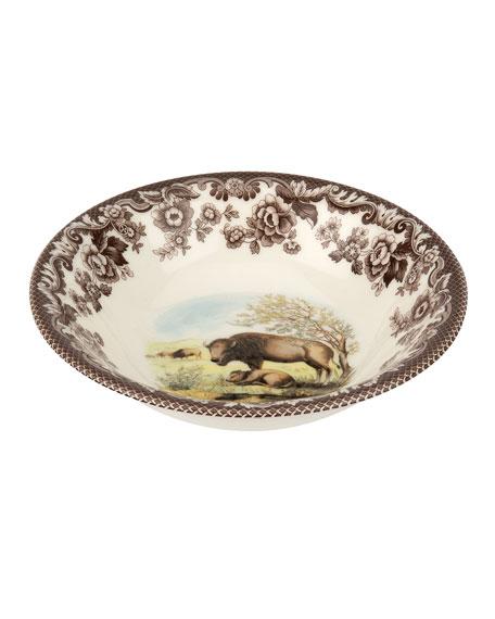 Spode Woodland Bison Ascot Cereal Bowl