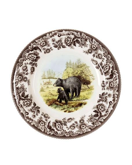 Spode Woodland American Wildlife Black Bear Salad Plate