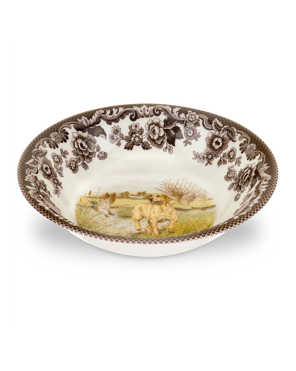 Spode Woodland Hunting Dogs Ascot  Cereal Bowl