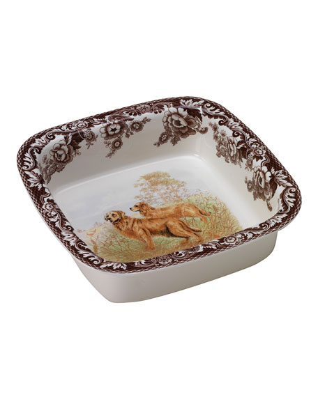 Spode Woodland Hunting Dogs Square Dish