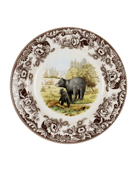 Spode Woodland American Wildlife Black Bear Dinner Plate
