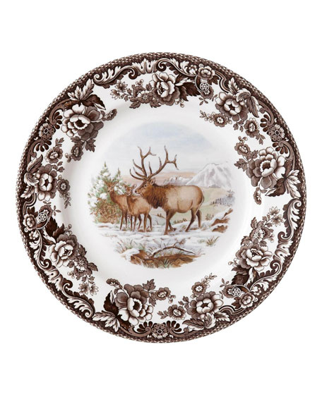 Spode Woodland American Wildlife Elk Salad Plate