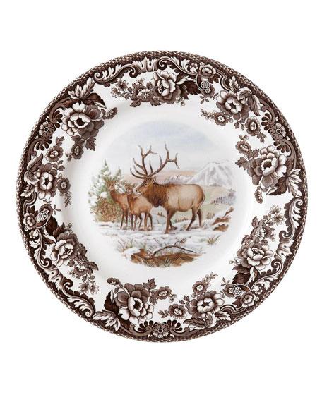 Spode Woodland American Wildlife Elk Dinner Plate