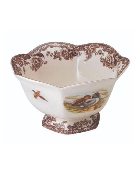 Spode Hexagonal Lapwing Footed Bowl