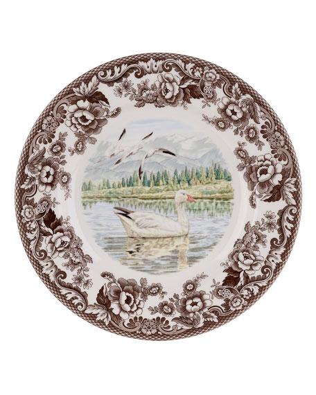Spode Woodland Snow Goose Dinner Plate