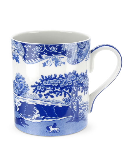 Spode Blue Italian Mugs, Set of 4