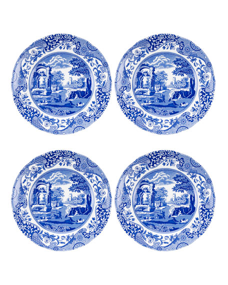 Spode Blue Italian Salad Plates, Set of 4