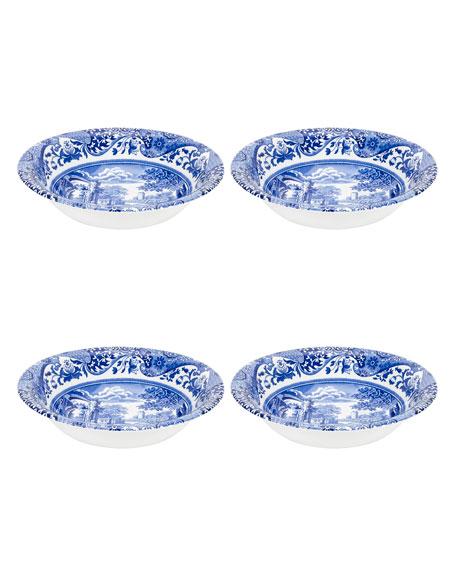 Spode Blue Italian Ascot Cereal Bowls, Set of 4