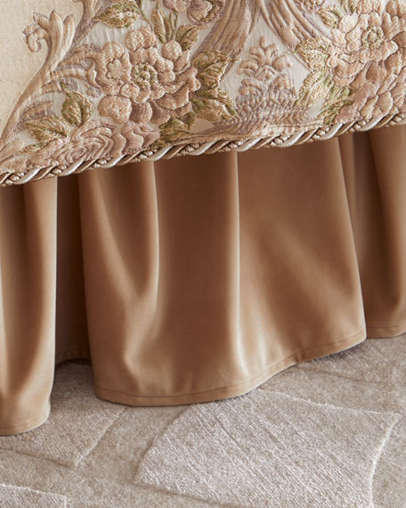 Dian Austin Couture Home Mayorka Adjustable Velvet Dust Skirt
