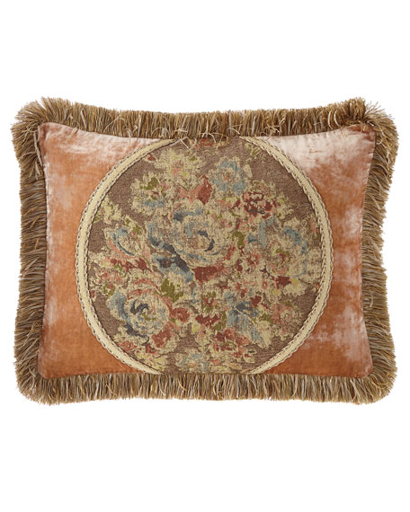 Dian Austin Couture Home Viburnum Pieced King Sham with Velvet Sides