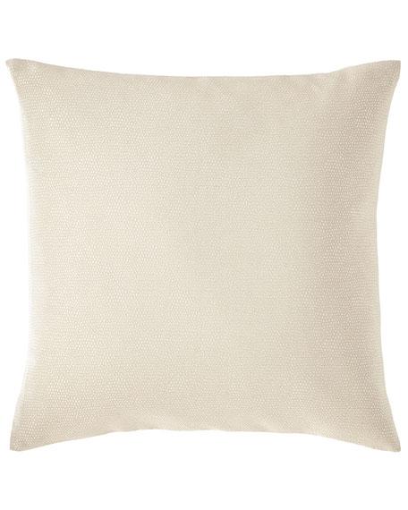 Fino Lino Linen & Lace Sassolino Square Decorative Pillow with Polivia Backing