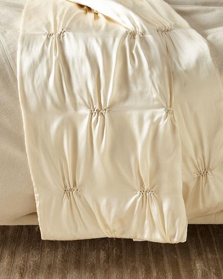 Fino Lino Linen & Lace Marilyn Charmeuse Silk Throw