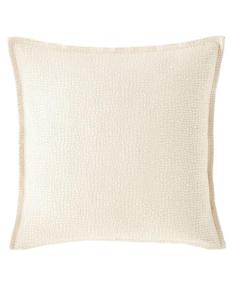 Fino Lino Linen & Lace Pertula Square Decorative Pillow