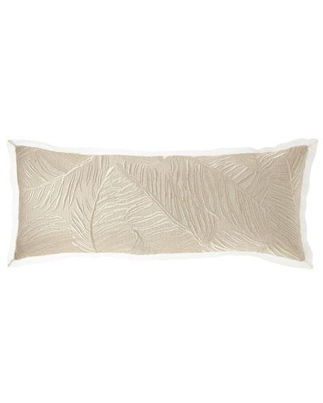 Fino Lino Linen & Lace Palm Beach Decorative Oblong Pillow