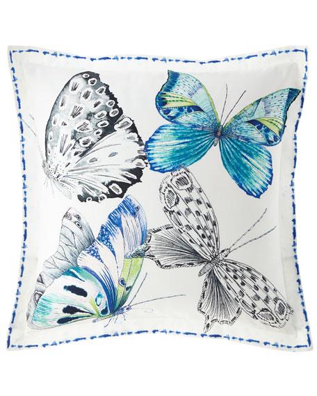 Designers Guild Papillons Cobalt European Sham