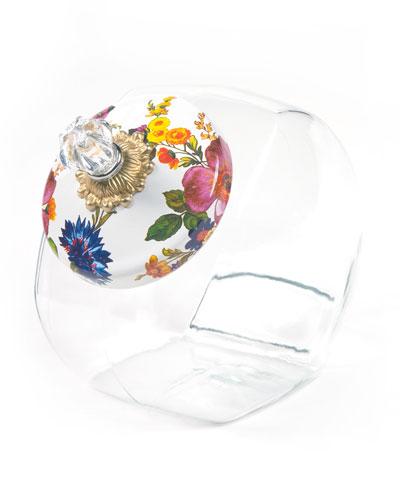 White Flower Market Cookie Jar