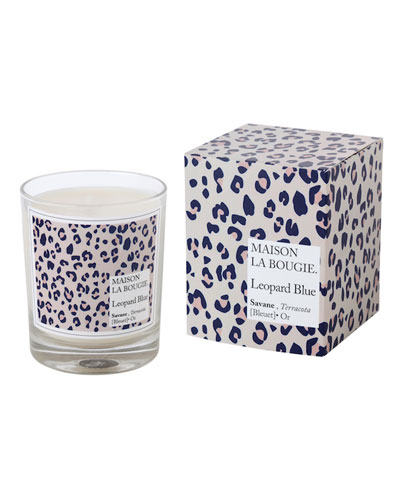 Leopard Blue Scented Candle  6.7 oz./ 180 g