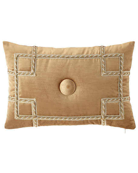 Sweet Dreams Minako Velvet Oblong Pillow with Button Center