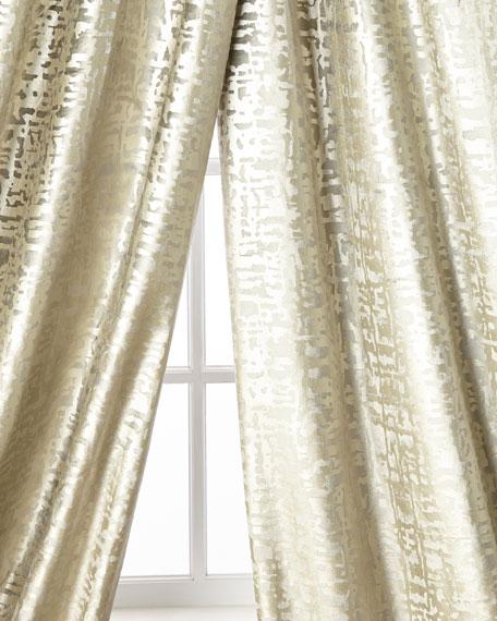 Lili Alessandra Yovanna Silver Shimmer Curtain Panels, Set of Two