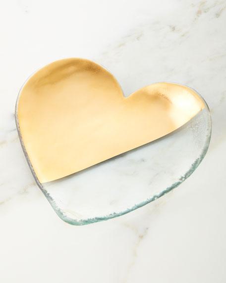Annieglass Mod Heart Serveware