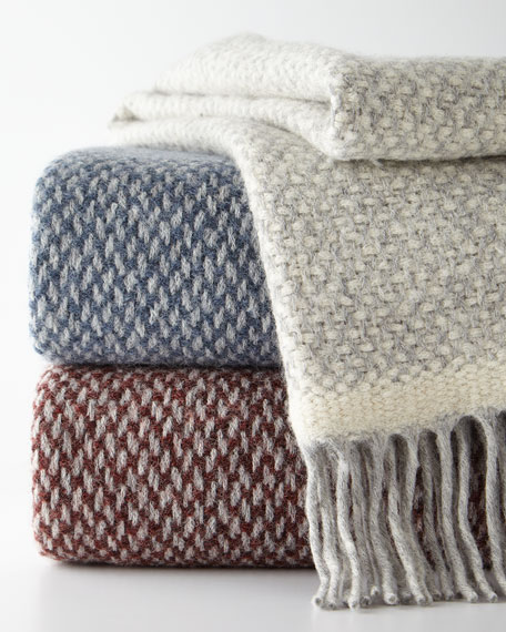 SFERRA Alpaca-Blend Decorative Throw