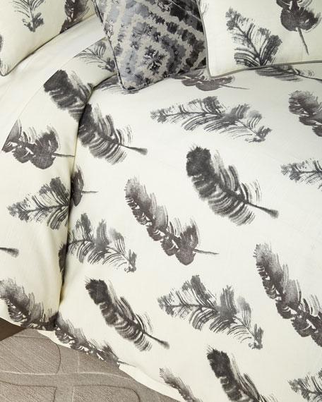 Jane Wilner Designs Plumes Queen Duvet
