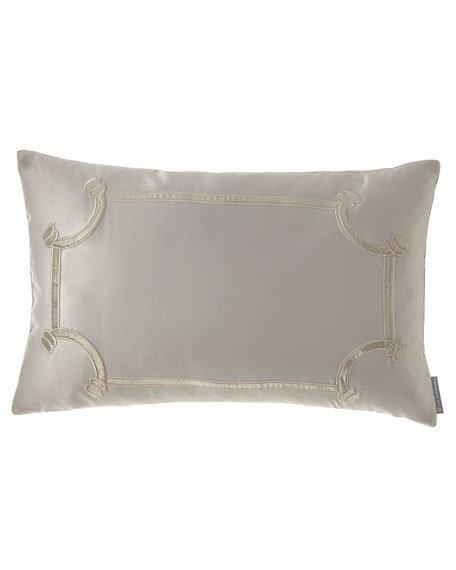 "Lili Alessandra Vendome Small Oblong Pillow, 14"" x 22"""