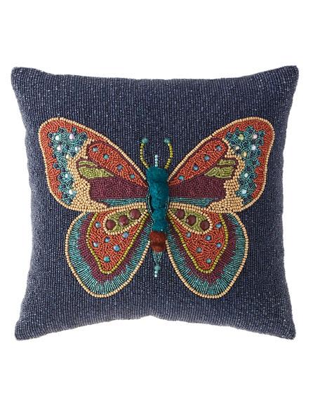 MacKenzie-Childs Boheme Butterfly Pillow