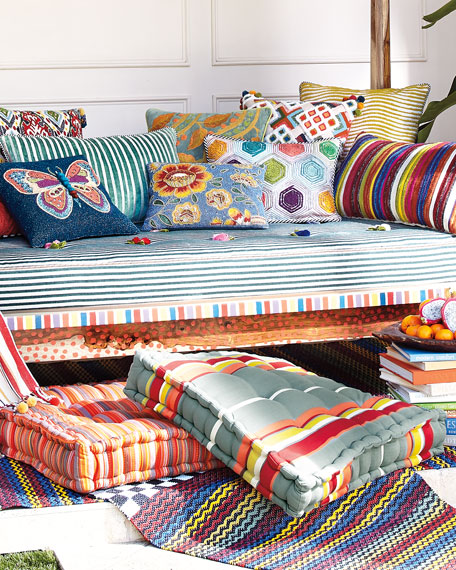 MacKenzie-Childs Boheme Stripe Floor Cushion
