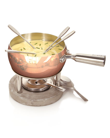 BOSKA Since 1896 Copper Fondue Set