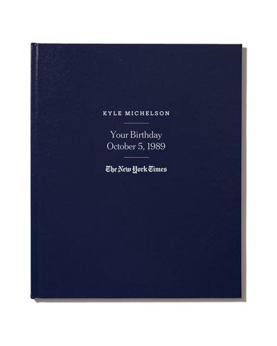 NYT Custom Birthday Book