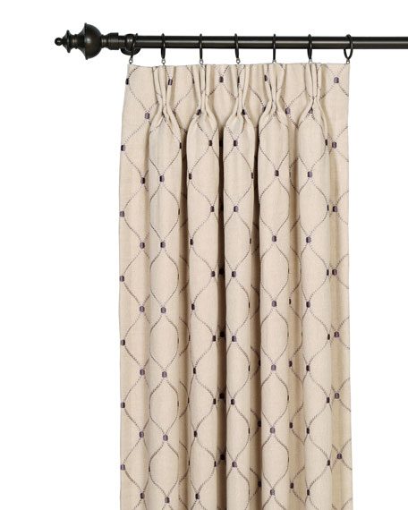 "Eastern Accents Branson Ivy Curtain Panel, 20"" x 96"""
