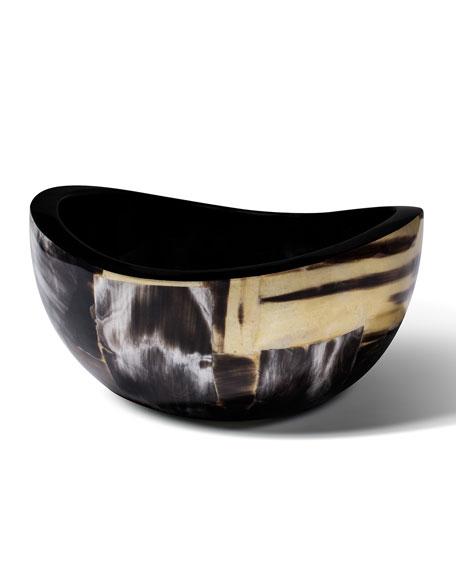 LADORADA Horn Veneer Accent Bowl