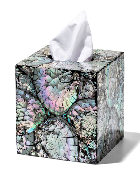 LADORADA Mother Of Pearl Tissue Box Cover