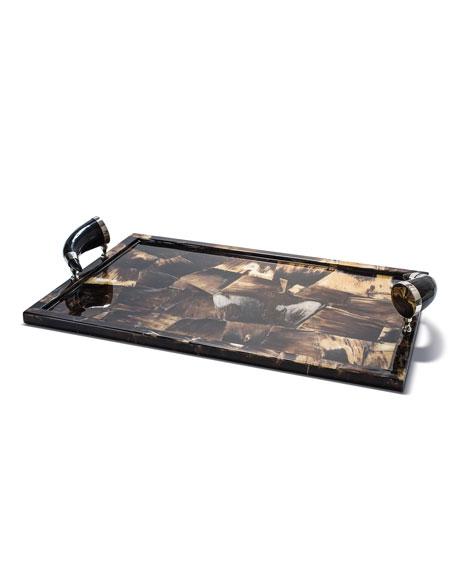 LADORADA Horn Veneer Large Tray