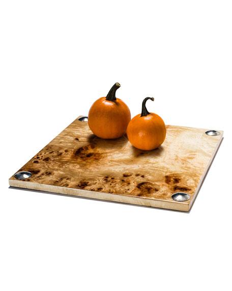 LADORADA Burl Veneer Large Serving Board